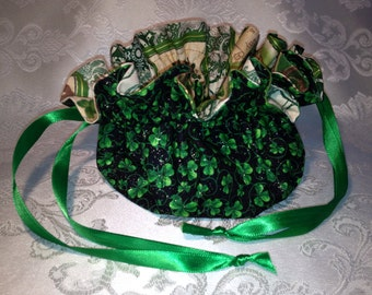 Drawstring Jewelry Pouch for St. Patrick's Day