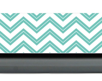 Silhouette Cameo  Mint and White Chevron Protective Skin