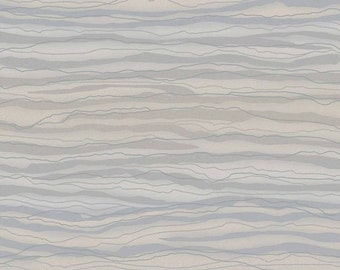 Wallpaper By The Yard - Wavy Lightening Stripe - Contemporary Light Lavender, Gray, Taupe Silver Glitter Metallic - GS4765 AA