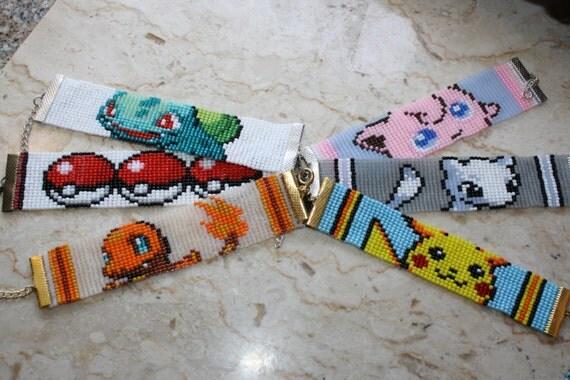 pokemon bracelet pikachu jigglypuff charmander mew bulbasaur. Black Bedroom Furniture Sets. Home Design Ideas