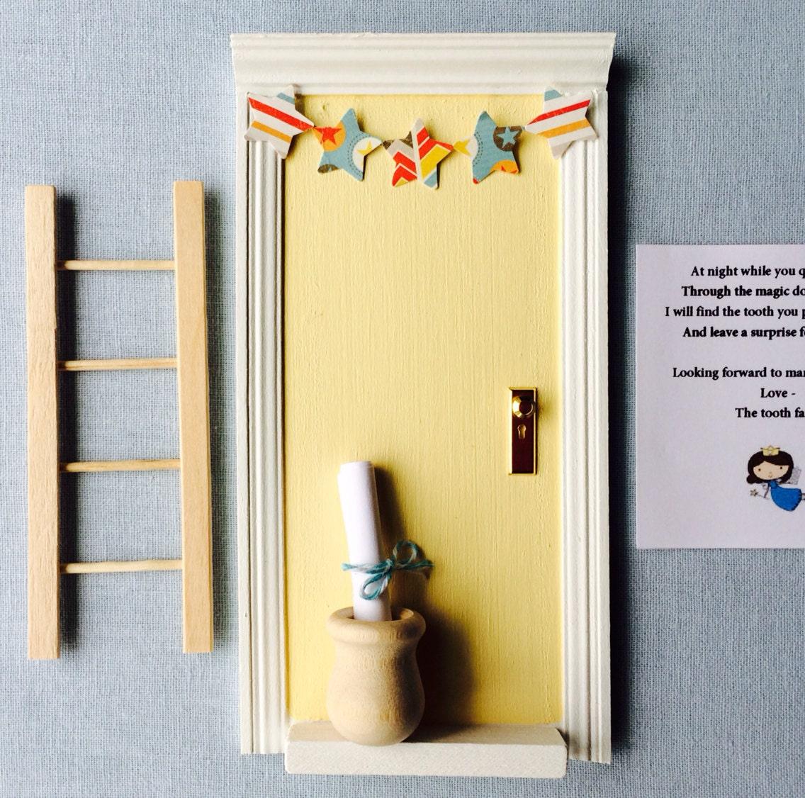 Fairy door tooth fairy tooth fairy door boy nursery baby for Tooth fairy door