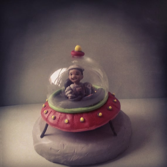 Outer space birthday cake topper customized by for Outer space cake design