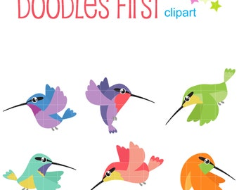 Graceful Hummingbirds Digital Clip Art for Scrapbooking Card Making Cupcake Toppers Paper Crafts