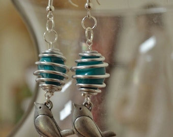 Spiral Songbird Earrings