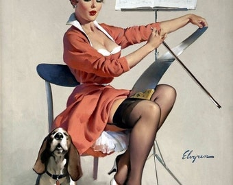 1950's Vintage Pin-Up Girl Poster 21