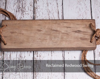 Tree Swing made from Reclaimed Redwood
