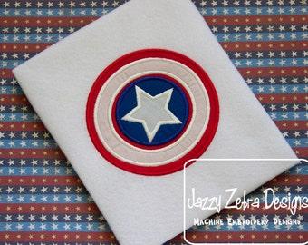 American Shield Appliqué embroidery Design - 4th of july Appliqué Design - independence day Appliqué Design - USA Applique Design