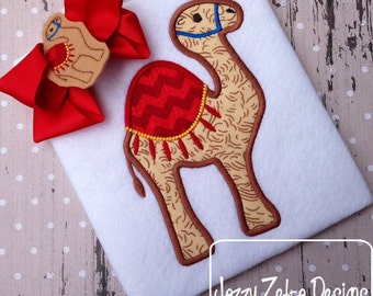 Camel appliqué embroidery design - camel appliqué design - circus appliqué design - carnival appliqué design - zoo appliqué design -hump day