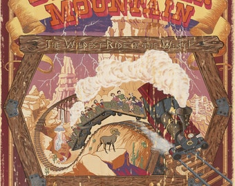 Giclee Printed Big Thunder Mountain Attraction Poster