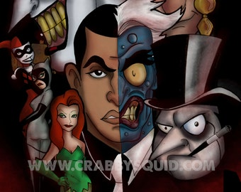 Batman The Animated Series Villains 13 x19 poster