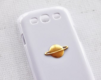 Samsung Saturn Phone Case iPhone 7 Plus Hipster Phone Cover Cell Phone Accessory Gorgeous Gold Color White Samsung Smartphone Gold