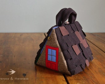 READY TO SHIP // Wee Fabric House: A-Frame Cabin