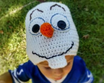 Olaf Hat, Olaf Beanie, Olaf Costume, Frozen Hat, Olaf Baby Hat, Frozen Baby Hat
