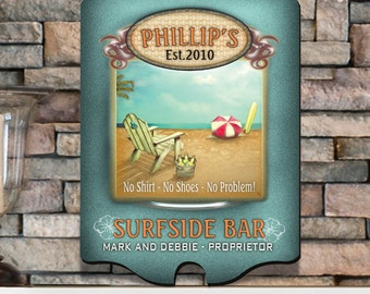 Personalized Bar Sign - Personalized Vintage Sign - Surfside Vintage Sign - GC298 SURFSIDE