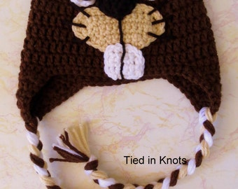 Beaver Hat - Crochet Beaver Hat - Beaver Hat for Boys - Busy Beaver Hat - Crochet hat for Boys - Beaver Hat - Crochet Beaver
