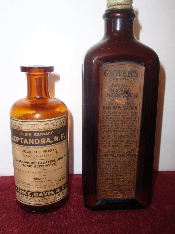 Vintage Medicine Woman Tarot Card Deck Carol By Back2theearth: 2 Vintage Old Medicine Bottles W Labels Labeled Bottles