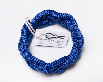 rope bracelet, macrame bracelet, infinity bracelet, wrap bracelet, rope bangle, blue bracelet