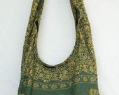 YAAMSTORE green elephant hobo bag sling shoulder crossbody hippie boho purse