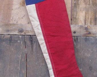 Prim Patriotic Flag Stocking #2 -   READY TO SHIP