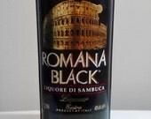 Romana Black Liquore Di Sambuca Upcycled Bottle All Natural Soy Candle