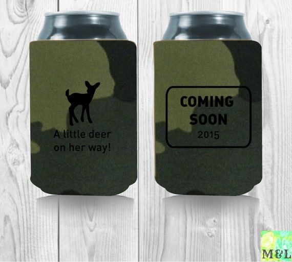 baby shower gift drink coozie koozie a little deer is on her