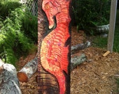 SeaHorse - Hand Crafted Relief Carving 12 x 39