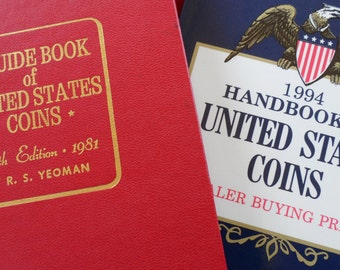 Two Coin Collecting Books - Excellent Condition - Historical Reference Guide Books - R.S. Yeoman - Vintage Coin Collecting Books - Clean
