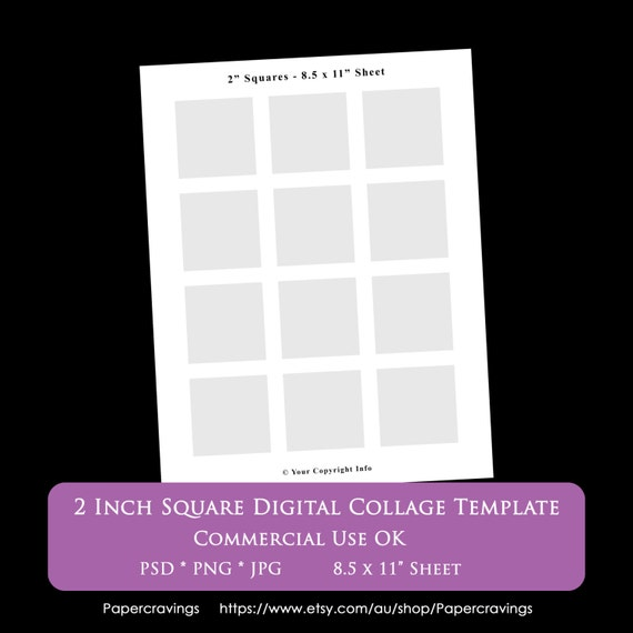 printable 1 inch squares template .