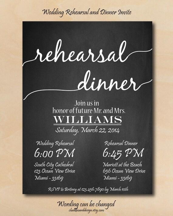 items similar to rehearsal dinner invitation  printables