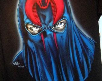 G.I. Joe // Cobra Commander // Custom Airbrushed T-shirt // One-Of-A-Kind // Hand-Painted