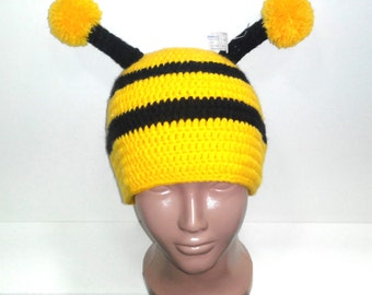 Bumble bee Hat ,Baby hat,Toddler Hat - Crochet bee Hat - Newborn Photo Prop - Photography props newborns baby - Striped hat - Bee animal hat