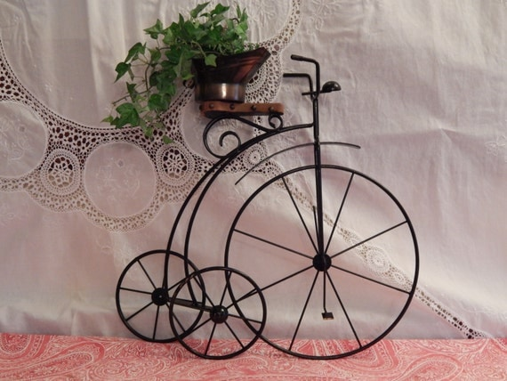 Items Similar To Metal Wrought Iron Bike Wall Hanging And