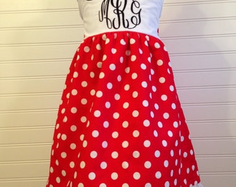 Minnie Mouse inspired Bow Back Sundress. Perfect for the playtime, parties, or a Disney vacation!