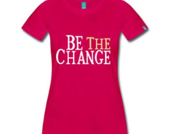 Be The Change Black Empowerment Ferguson Women's Fitted T-Shirt - Fuschia