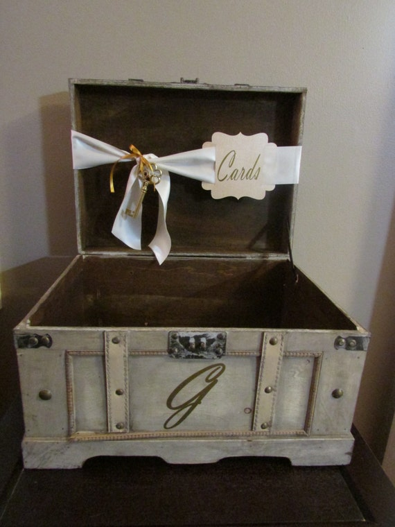 Vintage Wedding Card Box Extra Large, Vintage Rustic Wedding Card Box ...