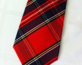 Vintage Scottish Tartan Wool Tie from Corner Stone