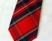 Vintage Scottish Tartan Wool Tie from Corner Stone