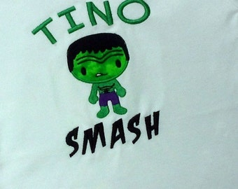 Boy's Green Smash Superhero with Embroidered Name