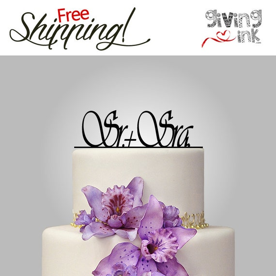 spanish style wedding cake toppers wedding cake topper mr amp mrs cake topper by givingink 20301