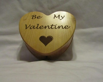 Personalized Heart Keepsake Box Custom Engraved- Valentine's Day