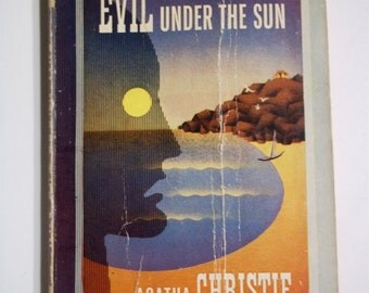 Evil Under the Sun by Agatha Christie Pocket Book #285 1945 Vintage Mystery Paperback Book