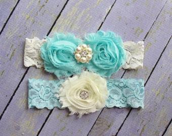 100+ Colors, Garter Wedding, Wedding Garter Belt, Something Blue, Aqua Garters Turquoise Garter, Custom Garter, Garter Sets