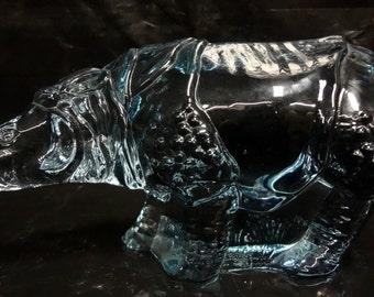 Swedish WWF Glass Rhinoceros   - E0057