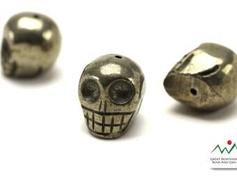 Pyrite,Pyrite Skull,Hand Carved Gemstone Skull,ETS804