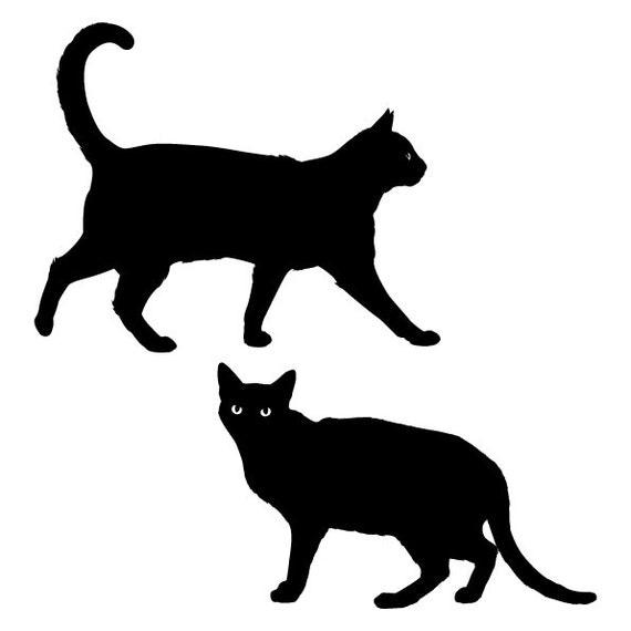 silueta de gato negro - photo #2