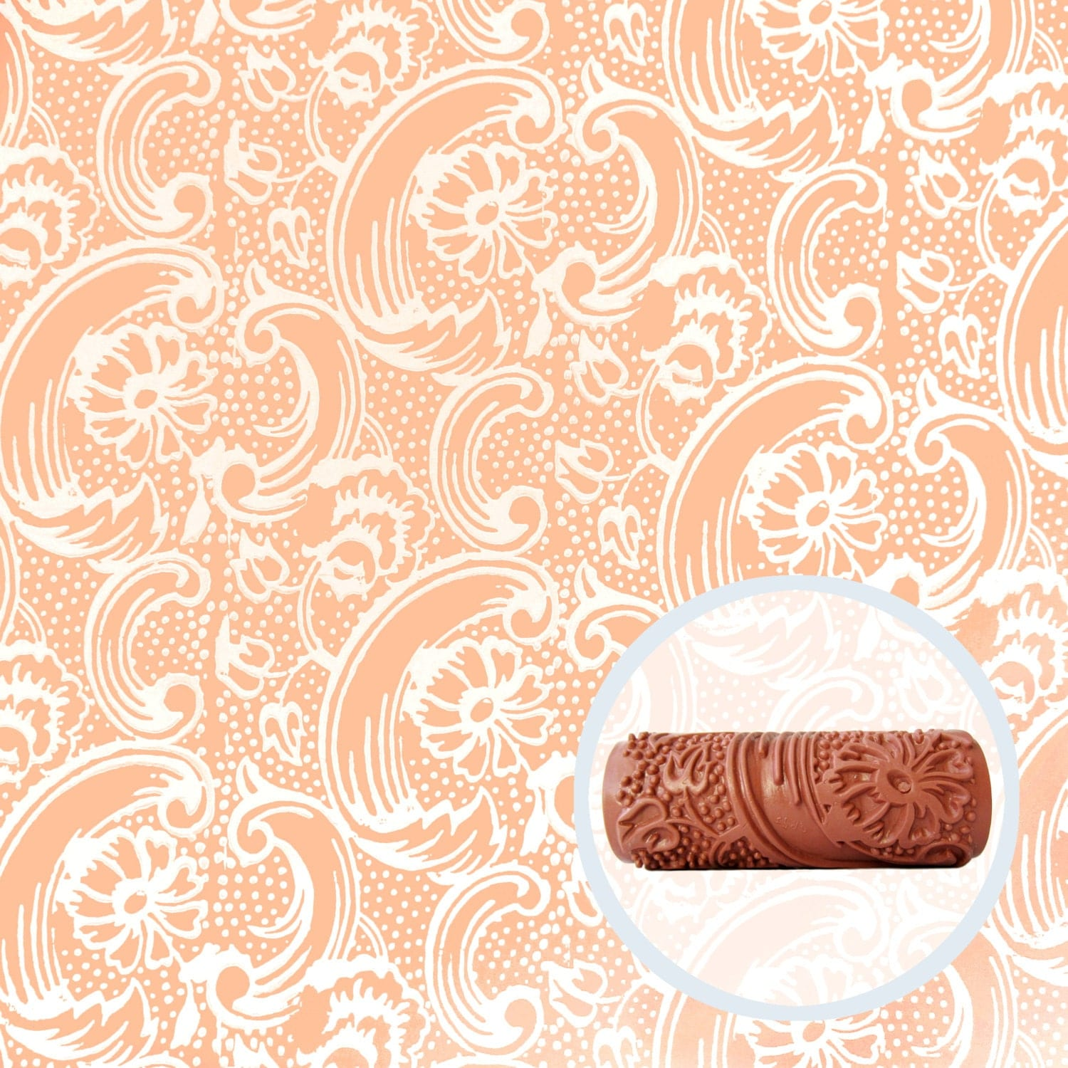 Bloom tide patterned paint roller for Wallpaper roller home depot