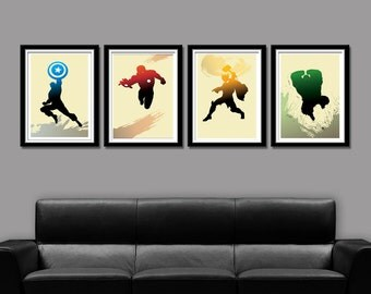 Super Hero Minimalist Movie Poster Set - Home Decor