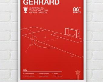 Steven Gerrard vs Olympiakos Giclee Print -- [49]