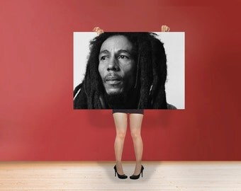 Bob Marley  - Classic Print Poster Cotton Matt Canvas  Jamaican  He was a committed Rastafarian Art Print POster Cotton Matt Canvas Photo