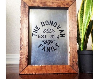 Family Established Sign Personalized Last Name Sign Established Name Sign